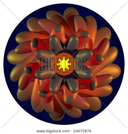 Radial Floral Symbol