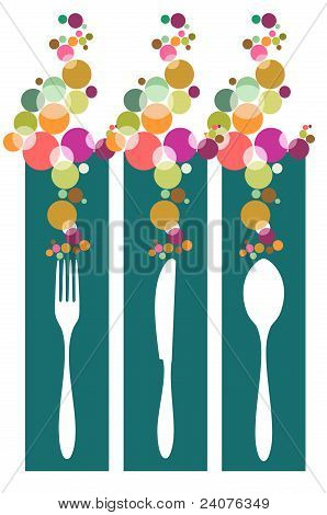 Cutlery Contemporary Pattern Illustration