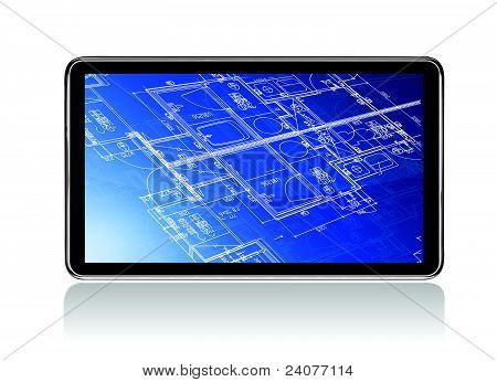 Touch Screen Home Construction Blueprints