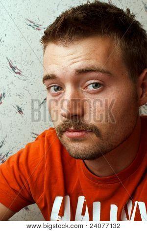 Man Mustache Look