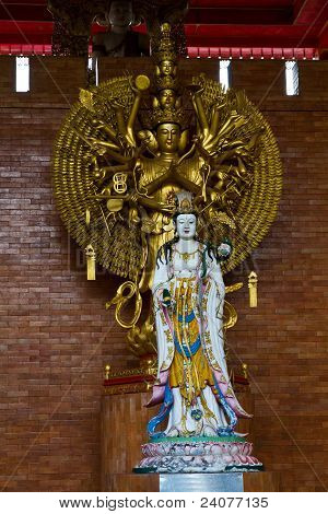 Guan Yin In Chinese Temple Of Thailand