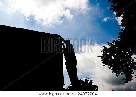 Man Latter Landscape