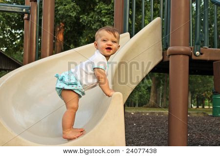 Baby Stand Slide
