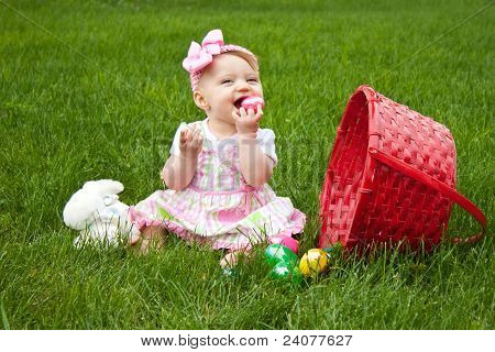 Easter Baby Spill Eat