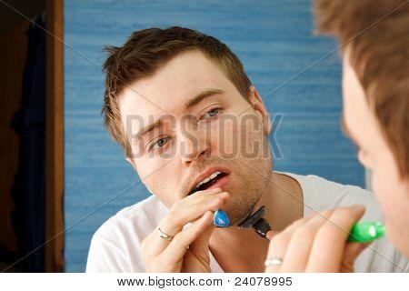 Man Mirror Shave Brush