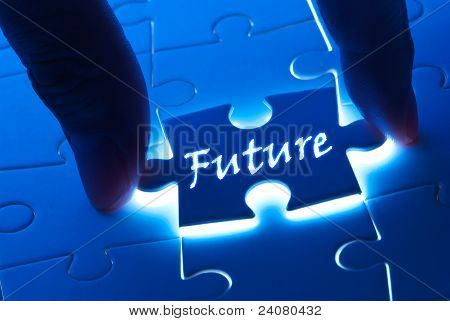 Future word on puzzle piece