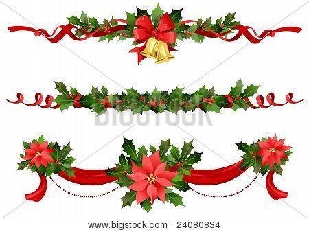 Decoración festiva de la Navidad