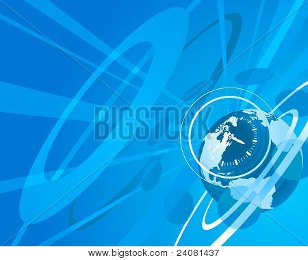 Globe And Clock Background