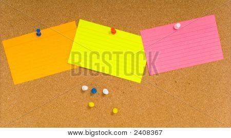 Notecard On Corkboard