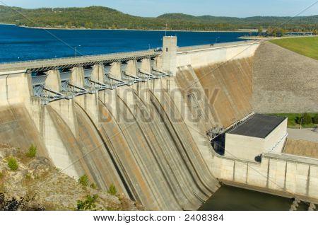 Energy Dam At A Lake