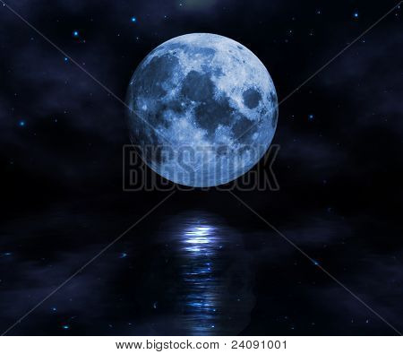 Moon Over The Water