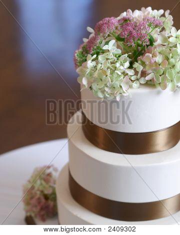 Primer plano de la torta de boda