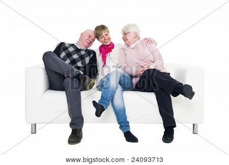 Woman With Her Parents