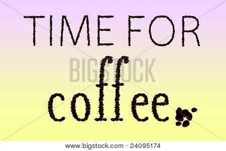 Time For Coffee Bean Word