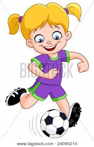 Menina de futebol