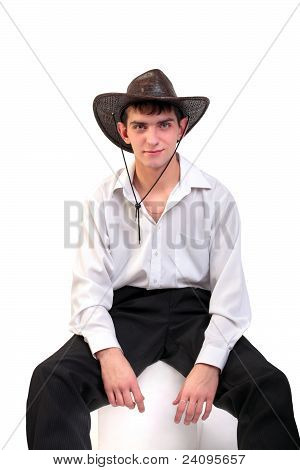Young Man In Stetson Hat