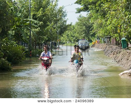 Monsoon Season In Ayuttaya, Thailand 2011