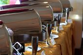 foto of chafing  - photograph of chafing dish at buffet restaurant
