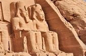 picture of reign  - Great temple of Abu Simbel in Egypt Africa - JPG