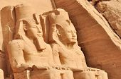 foto of reign  - Great temple of Abu Simbel in Egypt Africa - JPG