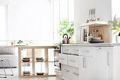 Stylish Kitchen Interior Setting. Idea For Home Design poster