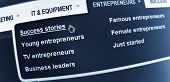 pic of entrepreneurship  - Success in business concept with webpage on laptop screen - JPG