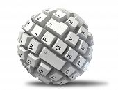 foto of lap  - abstract keyboard ball - JPG