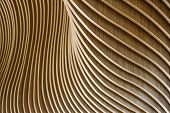 Architectural Details Of Welsh Assembly Building. Wooden Planks From Sustainable Sources. Eco-friend poster