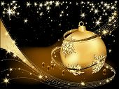 foto of merry christmas  - Merry Christmas  background gold and black - JPG