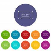 Audio Cassette Icon. Outline Illustration Of Audio Cassette Vector Icon For Web poster