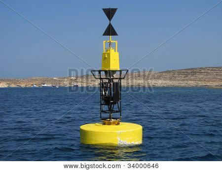 Buoy In The Channel Between The Maltese Islands