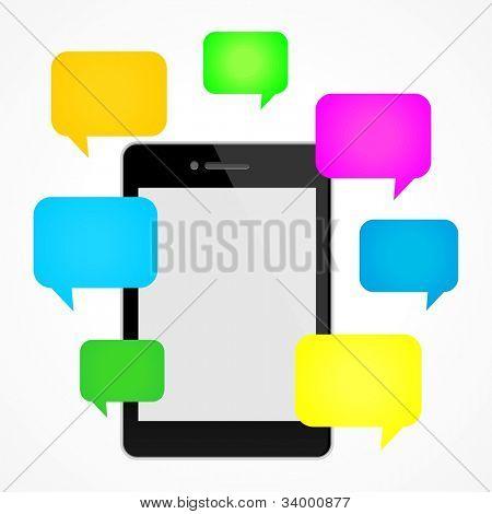 Social media concept background