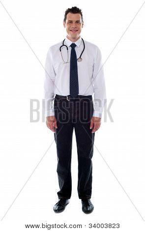 Confident Medical Male Representative