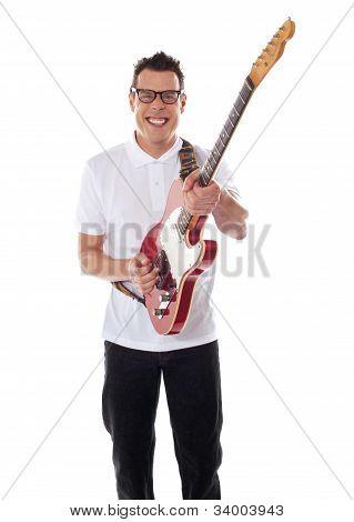 Young Guitarist Playing Guitar