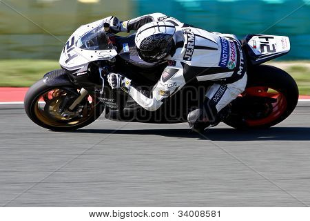 motorcyle at track
