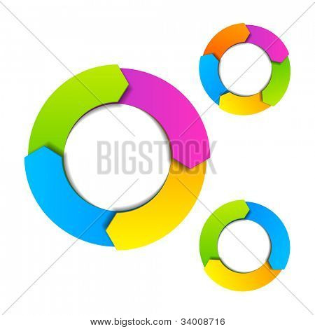 Circle diagram. Vector.