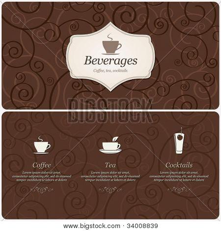 Menü für Restaurant, Café, Bar, Kaffeehaus