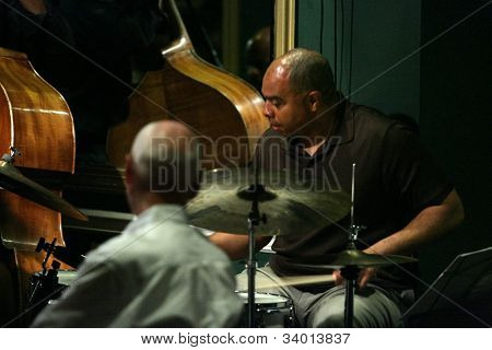 MADISON, NJ - JUNE 16: Dion Parson performs with the Steve Turre Quartet at Shanghai Jazz on June 16, 2012 in Madison, NJ.
