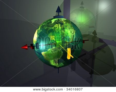 green glass maps