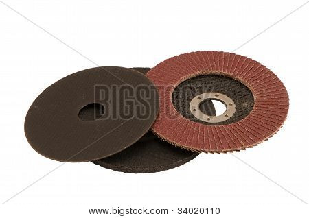Special Angle Grinder Sander Cut Discs Isolated