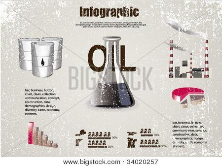 Oil Industry info graphics