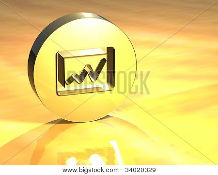 3D Graph Gold Sign