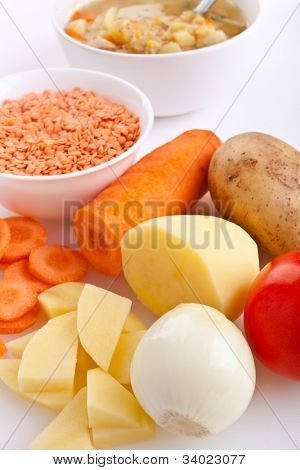 lentil chicken soup ingredients