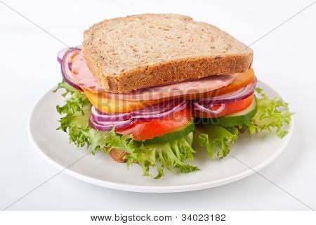 whole wheat sandwich