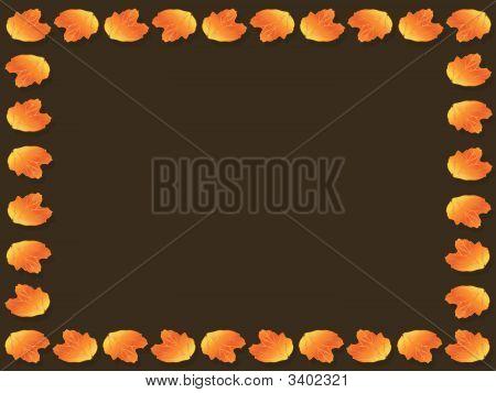 Autumnal Leaf Frame
