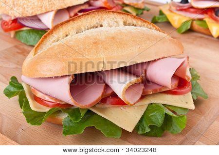 white wheat stuffed sandwiches