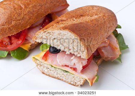 bran bread stuffed sandwiches