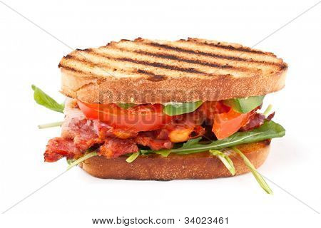 Bacon, lettuce and tomato BLT sandwich