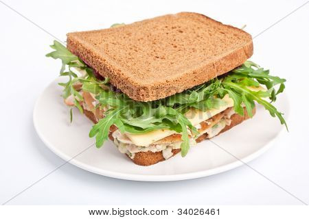 Whole wheat healthy turkey sandwich