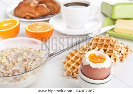 delicious breakfast meal